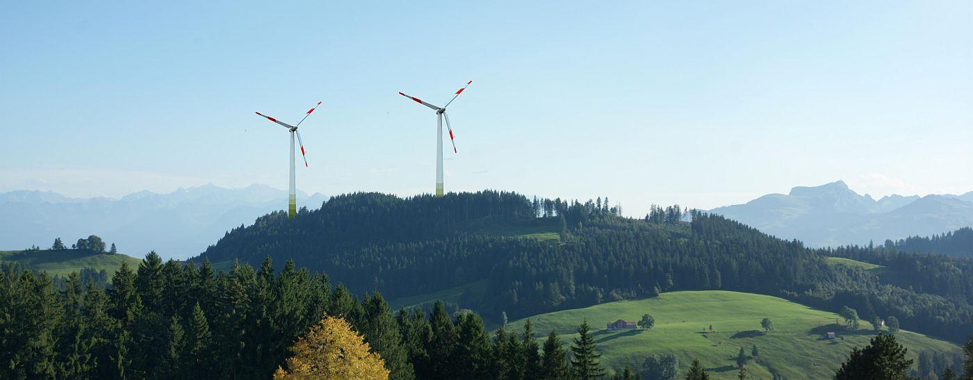 Sicht von Pumpstation Wald AR